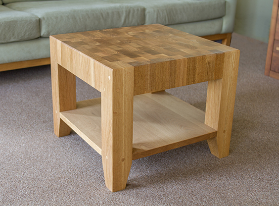End Grain Oak Coffee Table