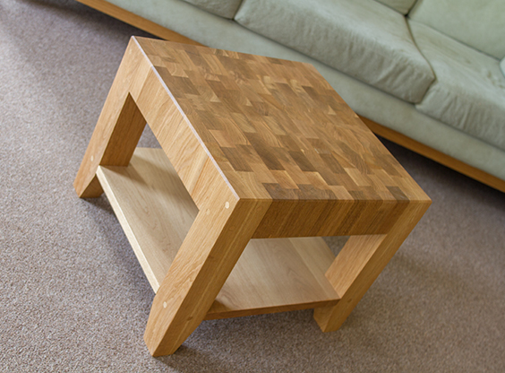 Solid Oak End Grain Coffee Table