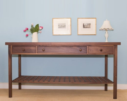 Walnut Console Table modren walnut console table modern in decorating