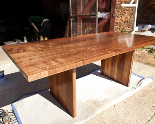T Shaped Walnut Dining Table