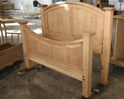 panelled wooden bed frame - Wooden Bed Frame