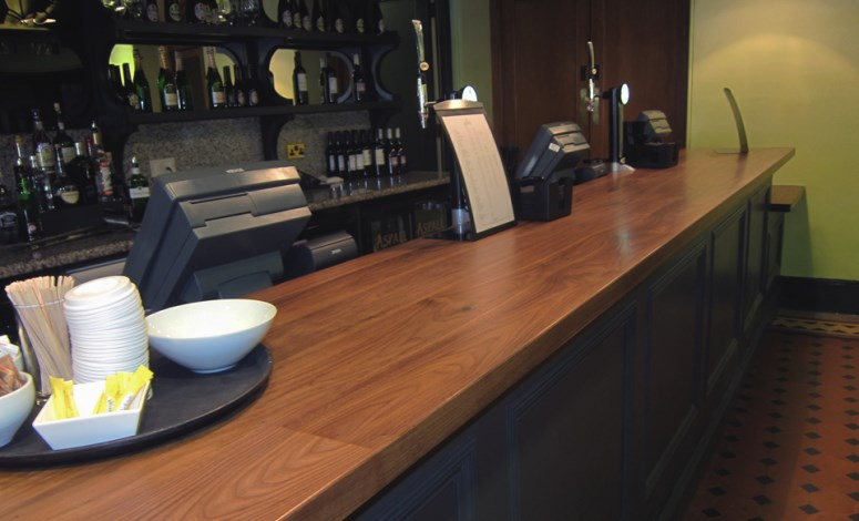 Wooden Bar Tops. Royal Albert Hall Bar Top