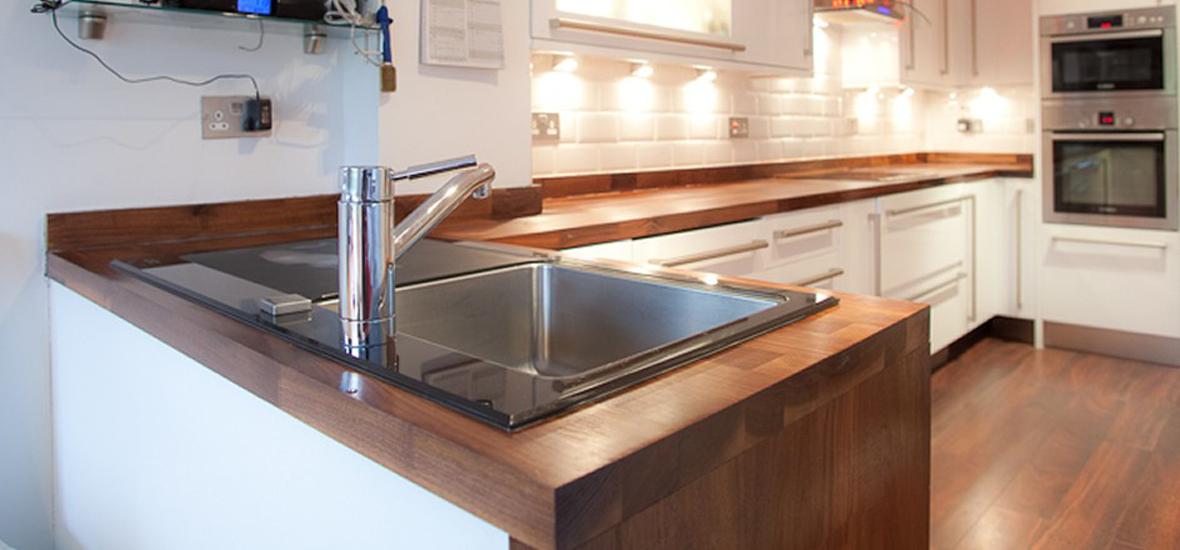 Walnut Butchers Block Kitchen Worktop